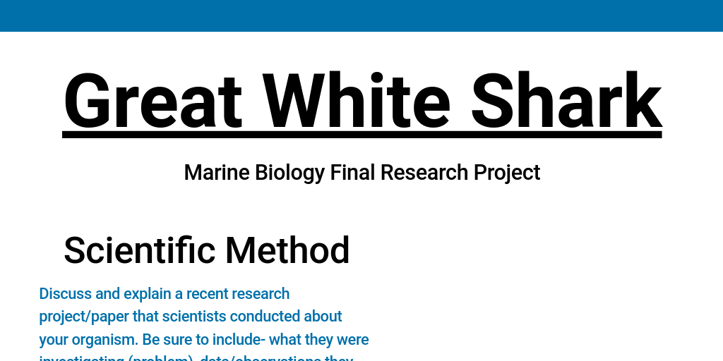 marine biology research paper