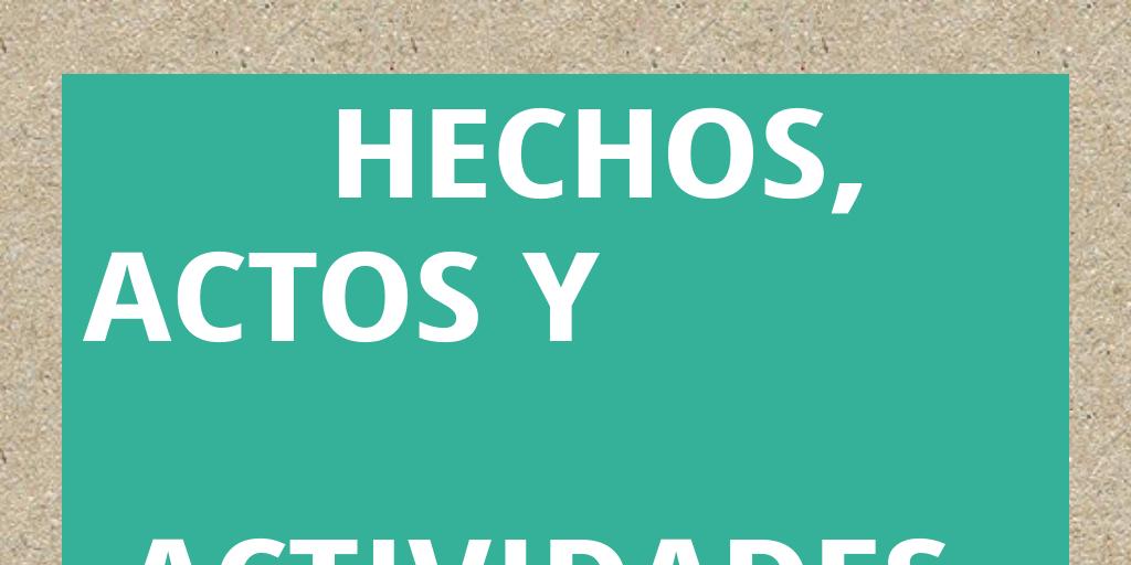 HECHOS, ACTOS Y ACTIVIDADEs eCONÓMICA by Gloriichiiz ...