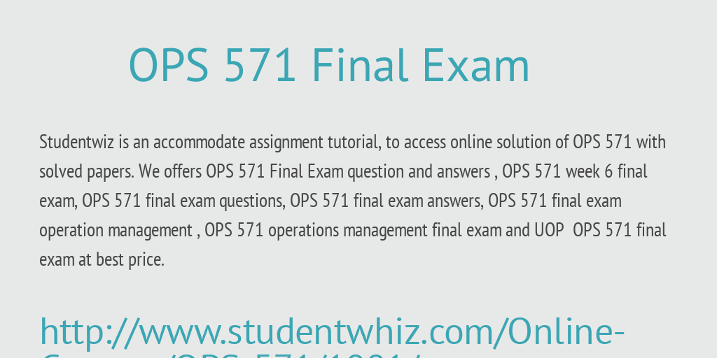 operations management assignment answers