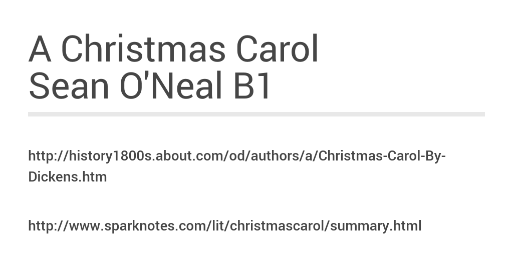 A Christmas Carol Summary.A Christmas Carol By Sean O Neal Infogram