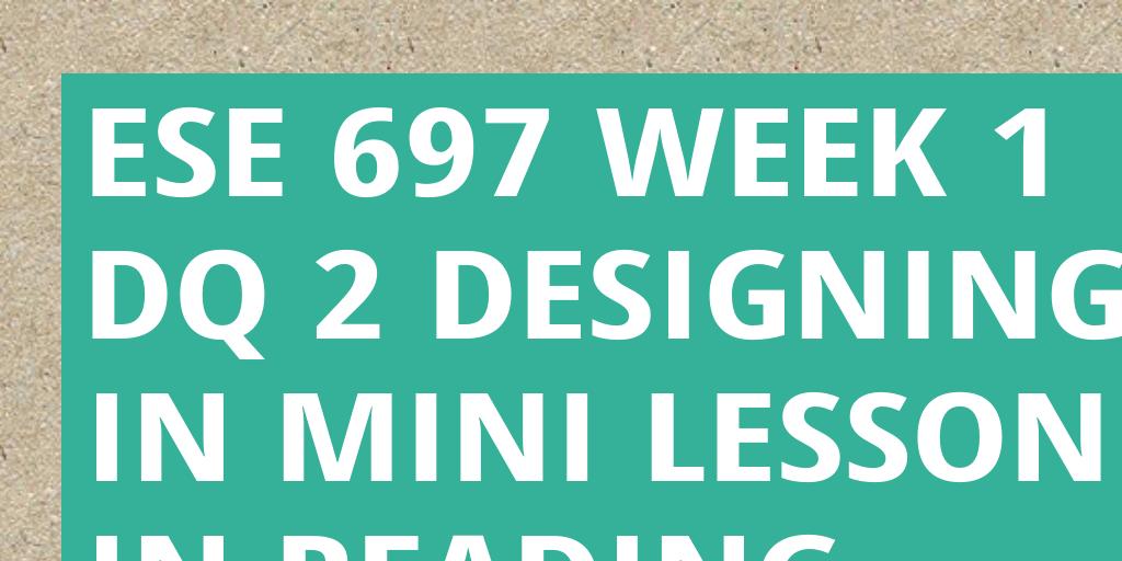 ese 315 week 5 dq 2 Cja 314 week 1 dq 2 - uoptutorialcom  search:.