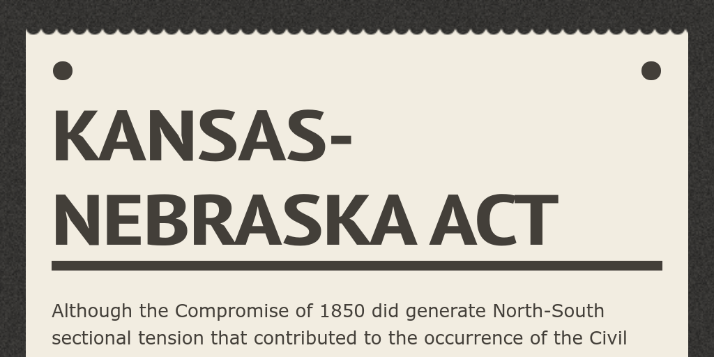 kansas nebraska act resolved The republican party was founded on july 6th, 1854  and michigan to discuss what to do if the kansas-nebraska act passed  resolved to form a new party and a.