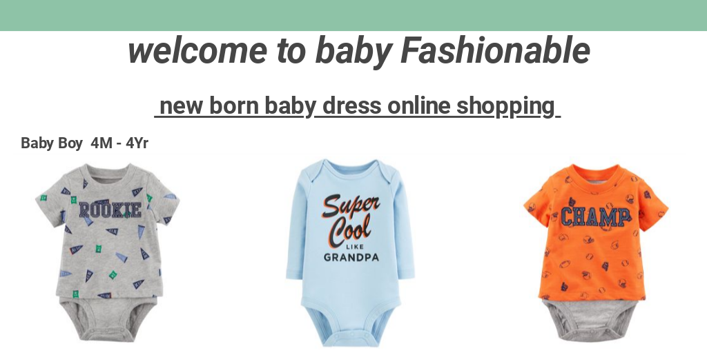 8752b298b new born baby dress online shopping by Baby Fashionable - Infogram.