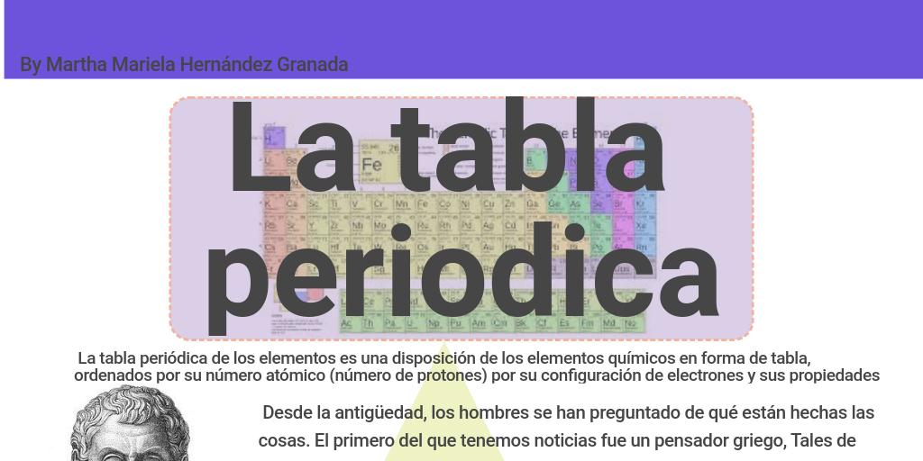 la tabla periodica by mariela hernandez infogram - Tabla Periodica De Los Elementos Quimicos En Griego