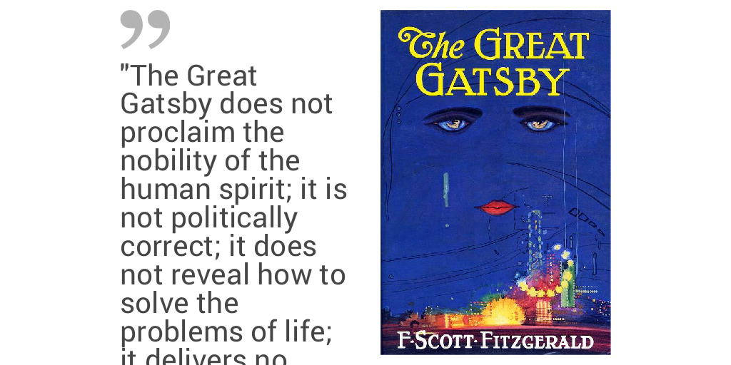 examples of moral decay in the great gatsby