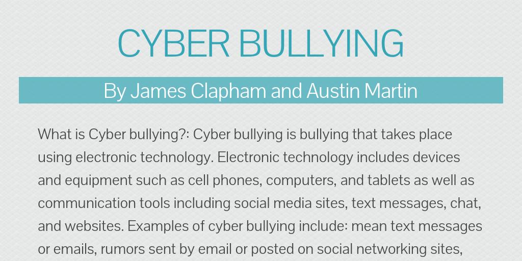 Cyber Bullying By Jbond Infogram