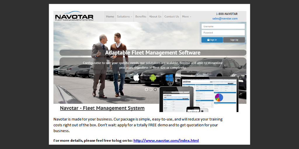 Fleet Management System by Navotar Fleet - Infogram