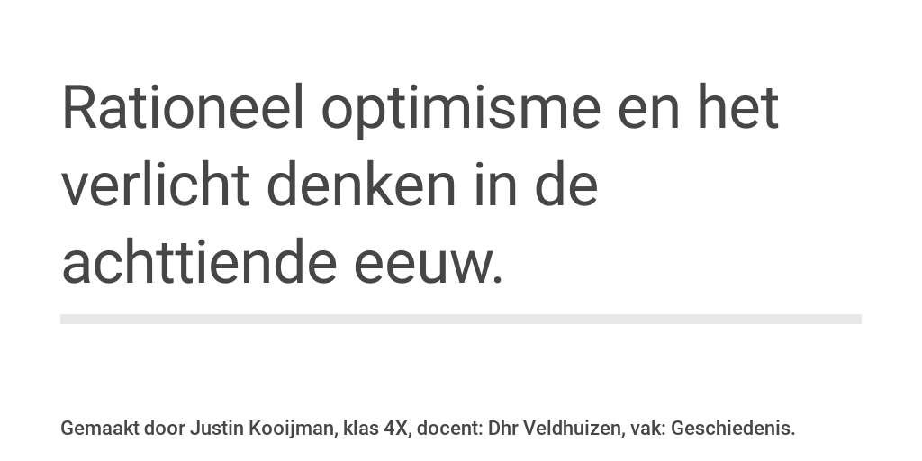 rationeel optimisme en verlicht denken by justin kooijman infogram