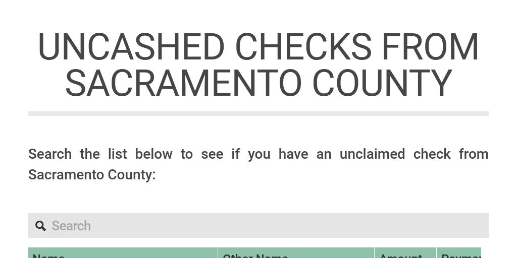 factory price 3742e 05758 Uncashed checks from Sacramento County by KCRA TV - Infogram