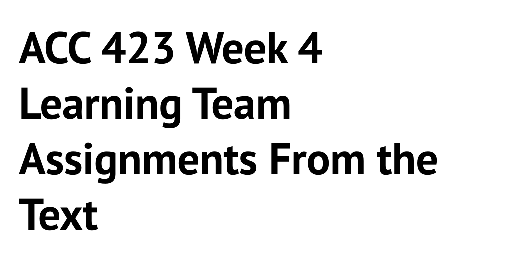 acc 300 week 4 learning team Acc 300 week 2 learning team weekly reflection to download click here this week reminded me the importance of financial planning for the company and the necessity for these statements we have to ensure that not only all these statements completed, but completed properly.