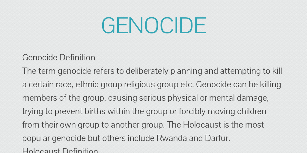 genocide rwanda darfur and the holocaust 2015 began with new bombings in darfur,  of the country and sudanese president omar al-bashir — a man wanted for genocide,  united to end genocide.