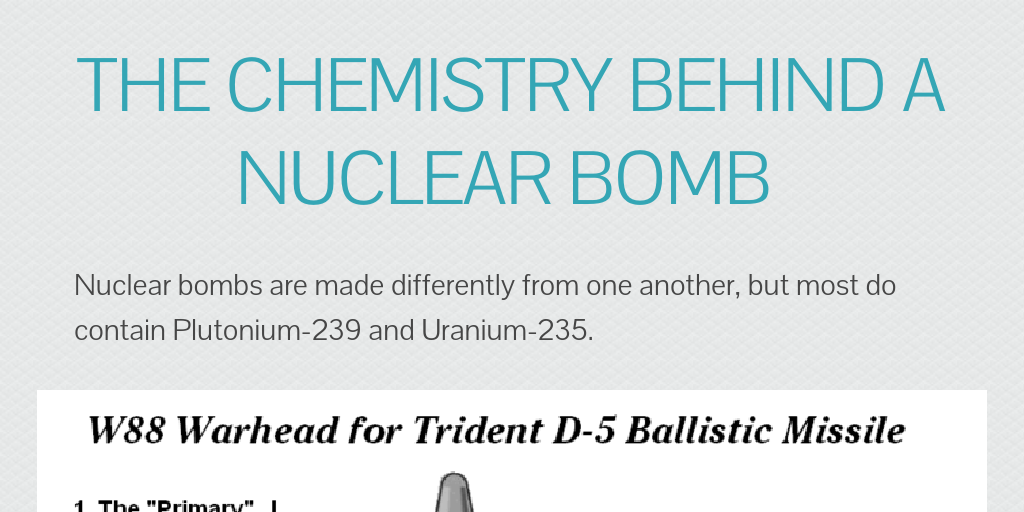 The chemistry behind a nuclear bomb by Cameron Williard