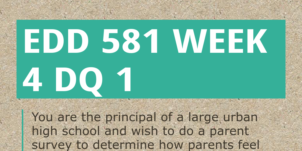 edd 581 week 5 dq 1 Action research: a guide for the teacher researcher, 2nd ed columbus, ohio:  merrill prentice hall  – a free powerpoint ppt presentation (displayed as a.