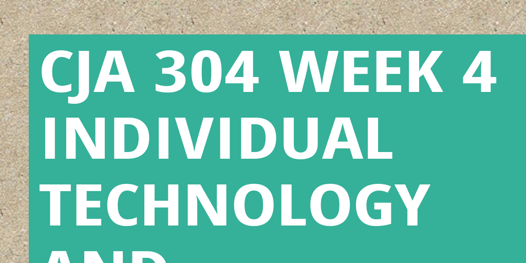 cja 304 effective communication paper Cja 304 week 4 technology and communication paper write a 1,050- to 1,400-word paper that explains how technology affects the communication capabilities of specialized databases and social media in the criminal justice system.