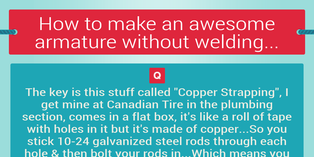 How to make an awesome armature without welding... by grovecanada ...