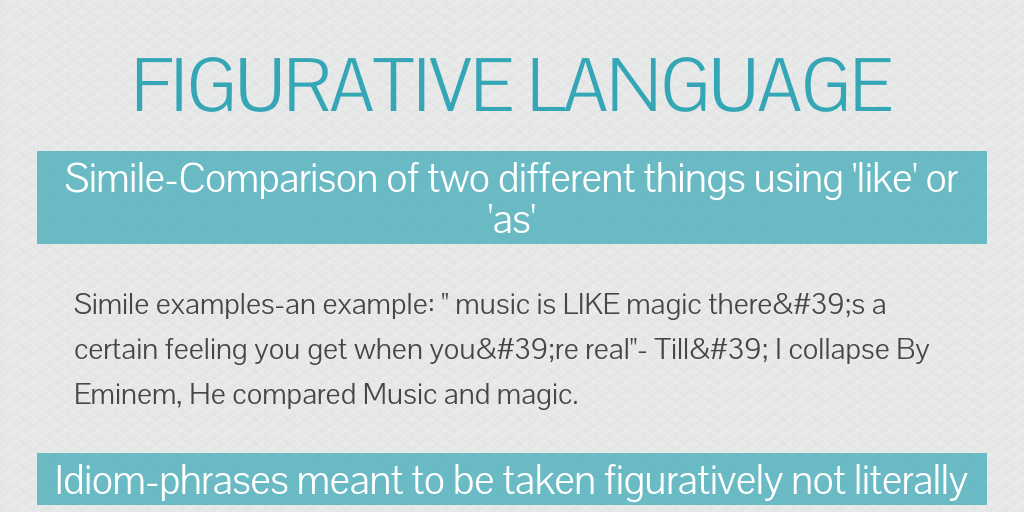 Figurative Language By Animallover123 Infogram
