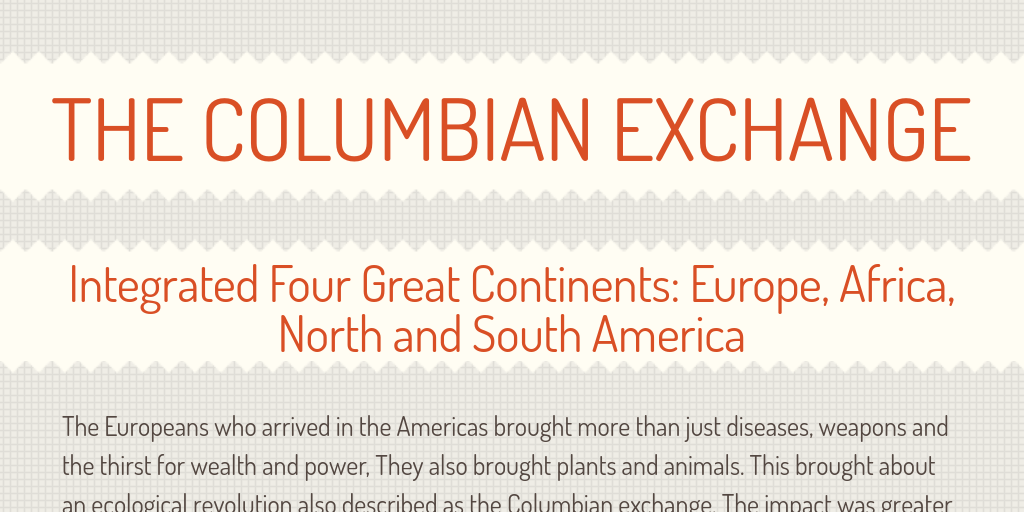 columbian exchange europe and the americas essay The columbian exchange essay example 1077 words sep 25th, 2007 5 pages the columbian exchange is the exchange of plants, animals, food, and diseases between europe and the americas.