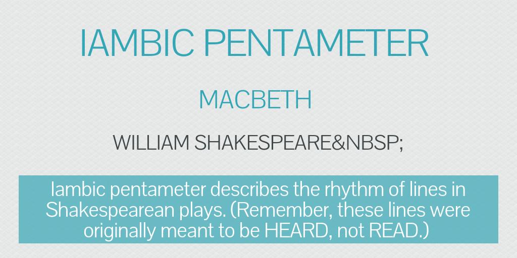 Iambic Pentameter by chloeelayne - Infogram