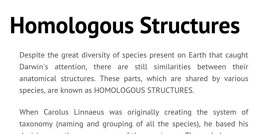 homologous structures by ckhilnani infogram
