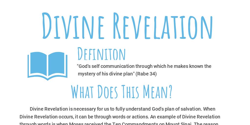 mystery of divine revelation