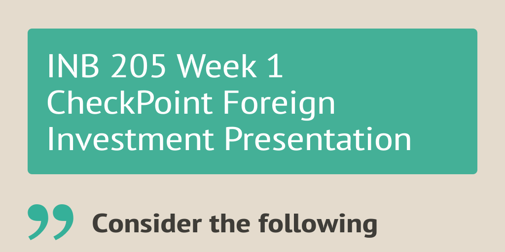 It 205 Week 1 Check Point