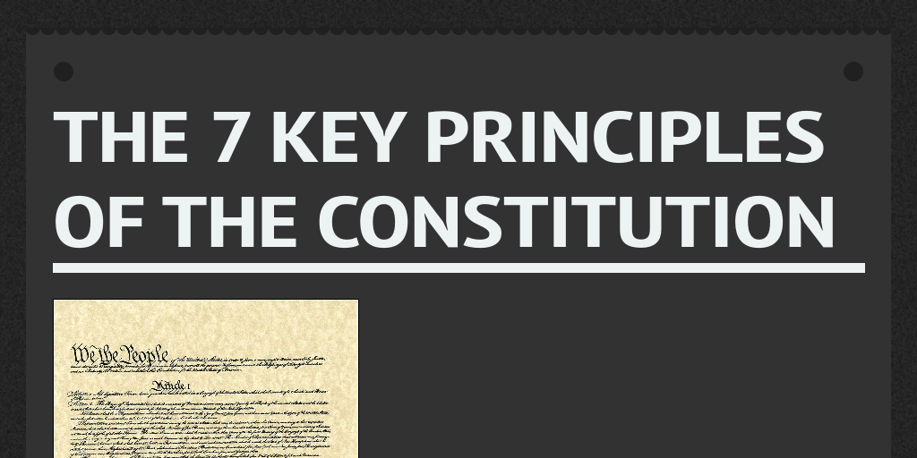 The 7 Key principles of the constitution by dan_cubbage - Infogram