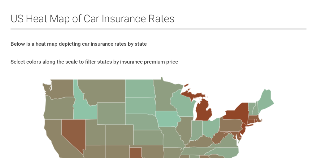 Car Insurance Map by Jared Grimm - Infogram