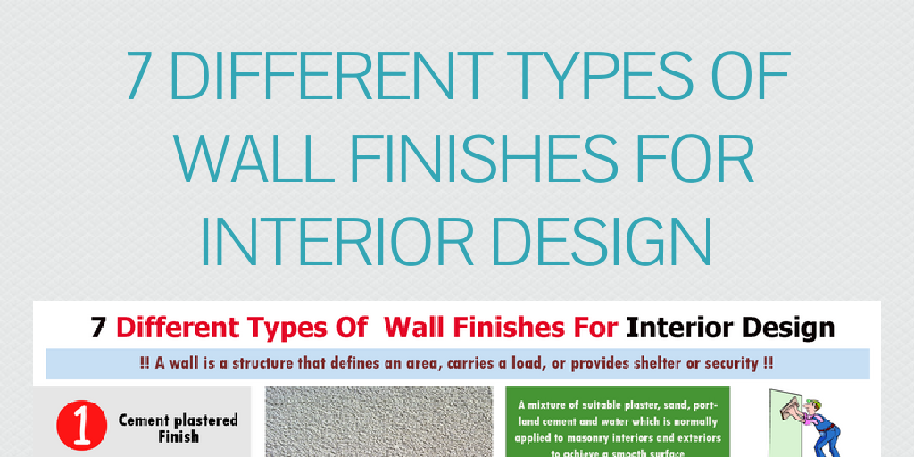 7 Different Types Of Wall Finishes For Interior Design By Lee_hancock    Infogram