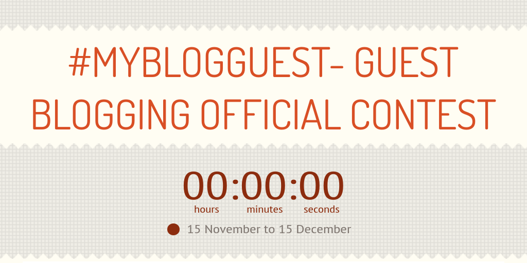 MYBLOGGUEST- GUEST BLOGGING OFFICIAL CONTEST by Javamazon - Infogram