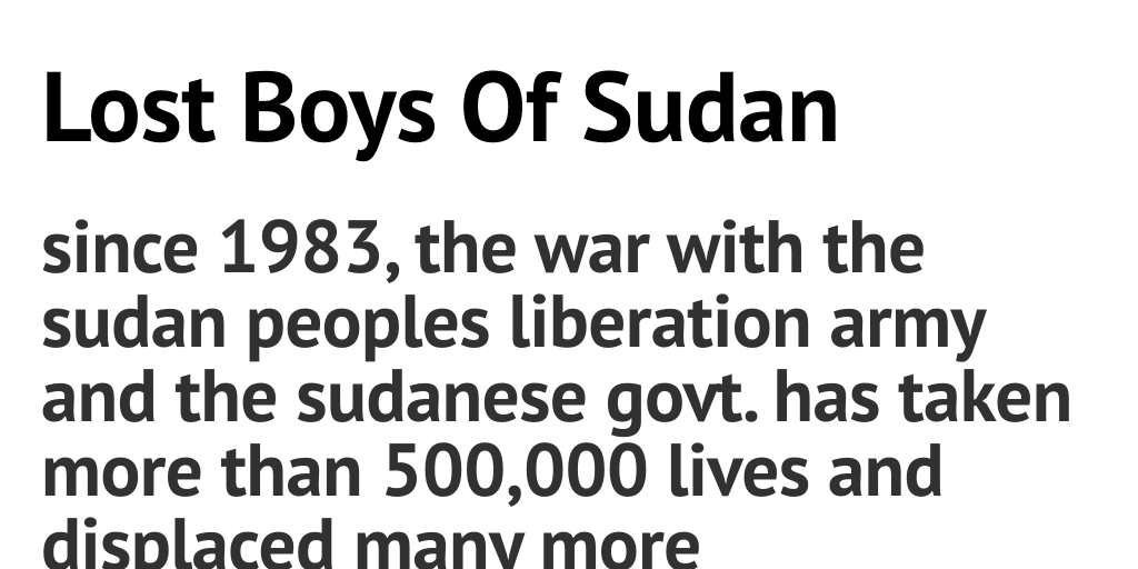 Lost boys of sudan by jayklein infogram publicscrutiny Gallery