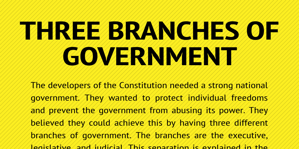 three branches of government by jhobbs infogram