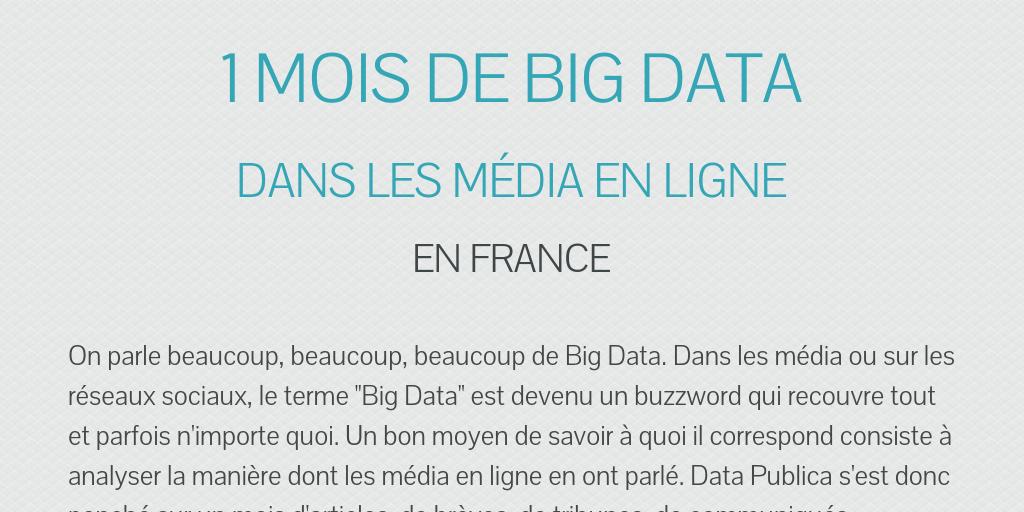 1 mois de big data by jpourrat