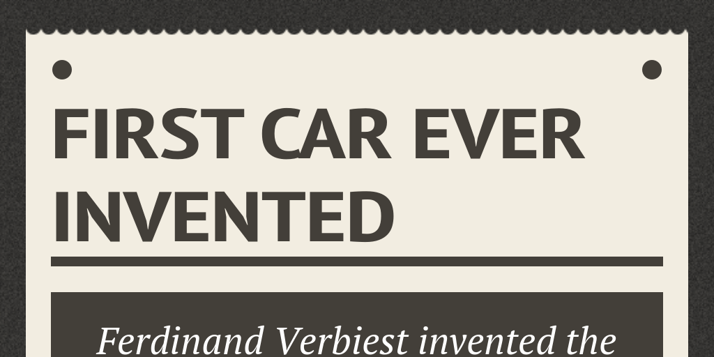 First Ever Car >> First car ever Invented by lena - Infogram