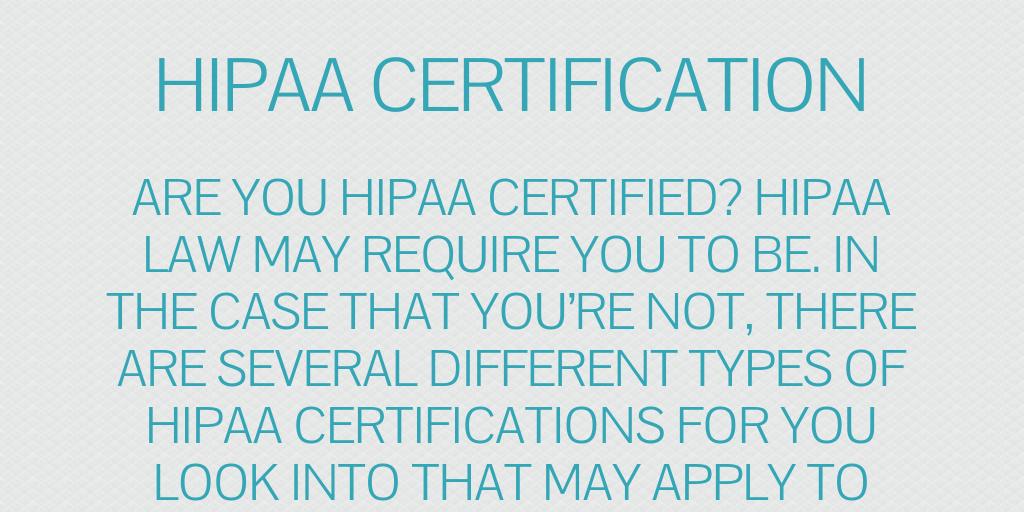 HIPAA Certification by levijoseph - Infogram