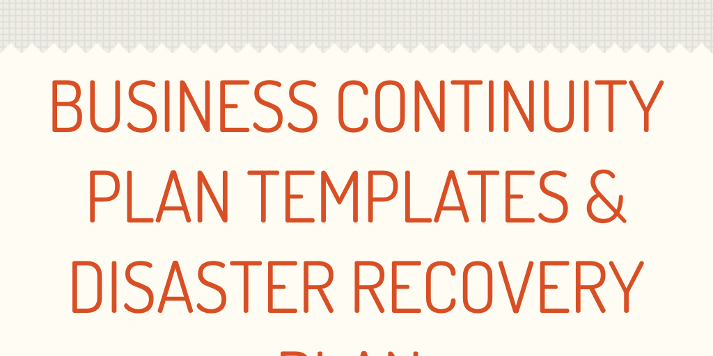 business contintuity Download a free business continuity plan template, and learn how to create a successful business continuity plan in this step-by-step guide print out our checklist of business continuity planning tips.