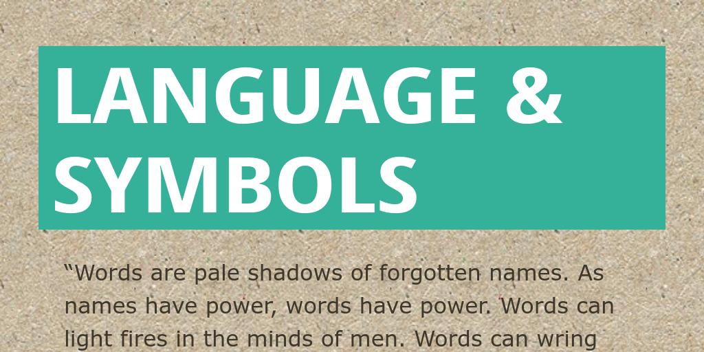 Language Symbols By Lrund Infogram