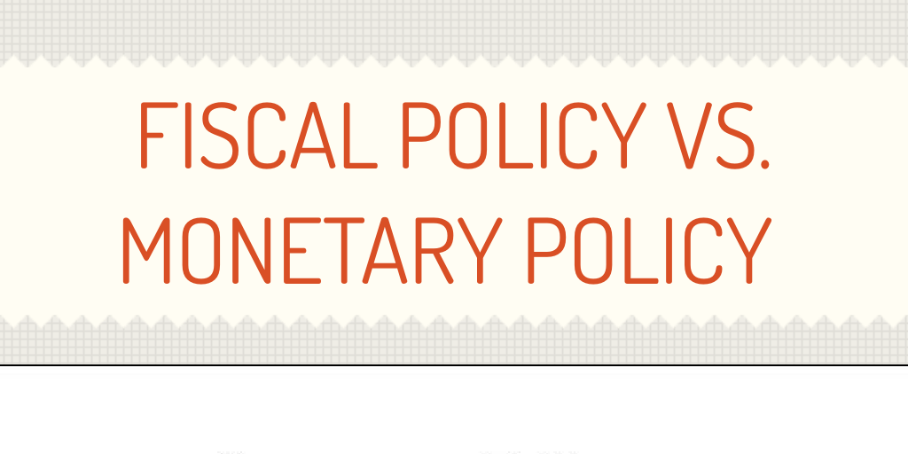 monetary policy vs fiscal policy Two words you'll hear thrown a lot in macroeconomic circles are monetary policy and fiscal policy and they're normally talked about in the context of ways to.