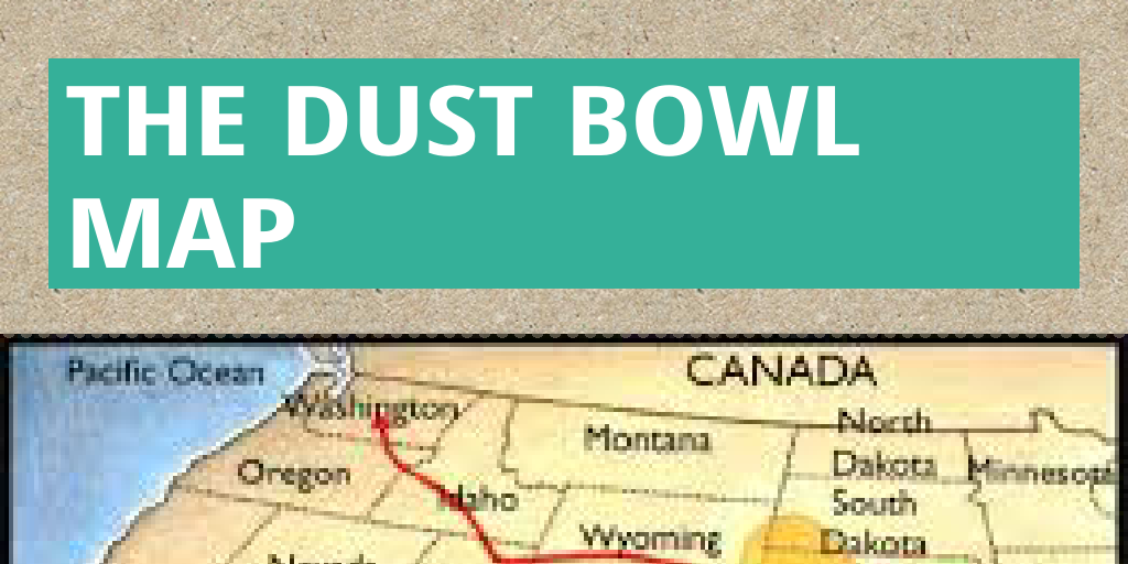 The dust bowl map by tcureilly - Infogram Dust Bowl Maps on